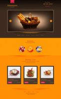 Food store psd template by rafimit