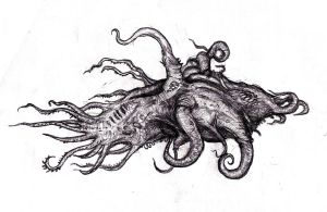Lovecraft - Nameless Larva of an Other God by KingOvRats