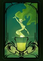 Green Fairy by Caelys-illustrations