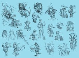persona 3 sketchpage 2 by VanRipper