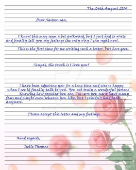 Letter to Saitou by arienhly