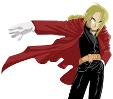 Edward Elric Wallpaper by foxumon