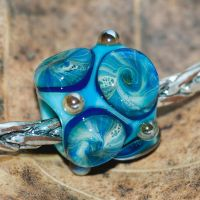 Osphexa, Glass Charm Bead by copperrein