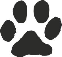 Cat Paw Print Vector by opdeebee