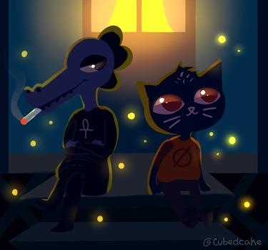 Firefly Magic - Night in the Woods by CubedCake
