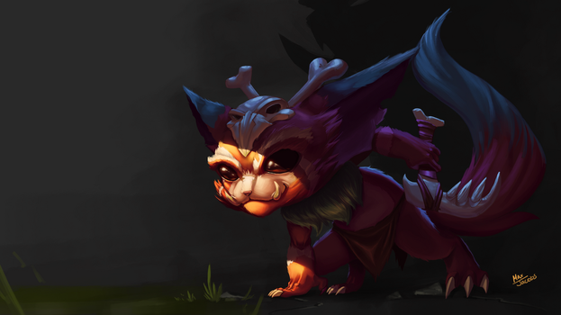 Gnar League of Legends Fan Art by ArcaneRaccoon