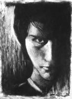 Charcoal Selfportrait by DHTenshi