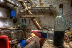 Forgotten wine bottle by CabrerFoto