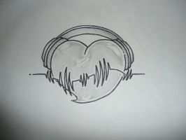 heart and headphones by J-Elusive