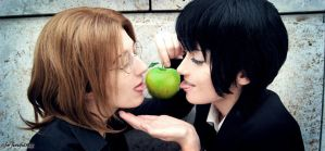 JohnxPaul Apple Kiss McLennon for fionafu0402 by Kaorulein