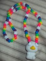 penguin necklace by ninjalove134