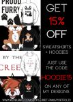Get 15% off any of my hoodies on RedBubble! by TrelDaWolf