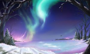 Northen lights WIP by supercrazzy