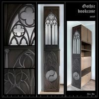 Gothic bookcase by AncientKing