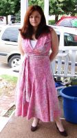 Sweet Pink Dress Sewing Project by annjepsen