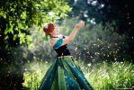 Frozen - Anna singing in the garden by vaxzone