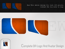 Complete DA logo And Avatar by UJz