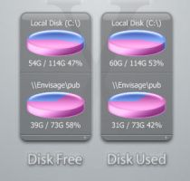 Disk Free and Disk Used by envisage