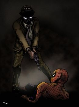 Crime-Master and Spider-Man by toddnovak