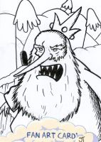 Ice King sketch card by johnnyism