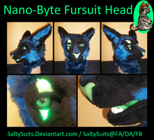 Nano-Byte Fursuit Head by SaltyPuppy