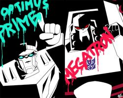 Optimus and Megatron by Uwall
