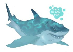 Shark Week - Great White Shark by ZEBES