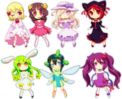 Chibi Adoptables (Closed) by Sandette