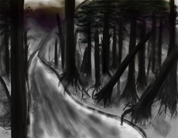Forest Painting by oreog