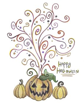 Halloween Tree by Spiralpathdesigns