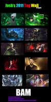 My 19th April Tag Wall update by JoshPattenDesigns