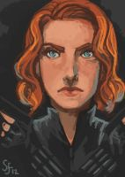 Black Widow- Speedpaint by CharcoalEyes