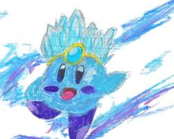 Ice Kirby by Lauren-The-Grey-Wolf