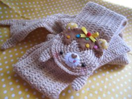 Kawaii scarf made by crochet by BrusyMilongui