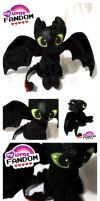 Toothless Plush by tonksiford