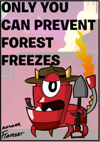 Mxls-Ranger Flamzer Forest Freezes Poster by ZoomTorch20
