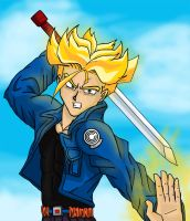 Future Trunks Scribble by BenSmith128