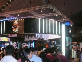 ANOTHER VIEW OF THE EA BOOTH by victortky