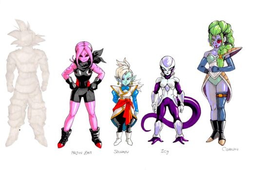 DragonBallMajic characters by twisted-wind