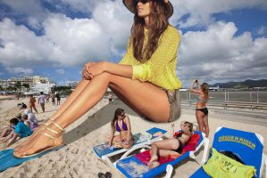Izabel Goulart beach by lowerrider