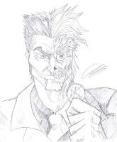 15 minute Sketch TwoFace by KingVego