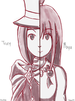 Maya and Trucy by kratos93