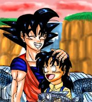 Fishing with Goku and Gohan by YamchaFan91