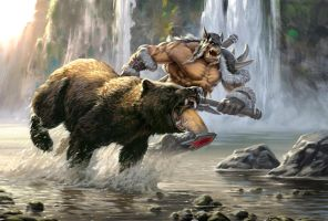 Rexxar and Misha , the heroes of the horde by Sergey82M