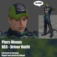 Piers Nivans RE6 Driver Outfit by Adngel