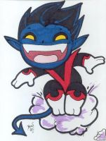 Chibi-Nightcrawler 2. by hedbonstudios