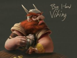 Big Hand Viking by baddafantasy