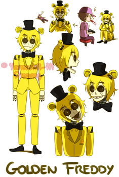 [FNAF HUMAN VERSION] Golden Freddy by YumeChii-NI