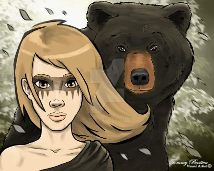 Alayna and the Bear by TommyBastien