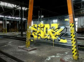 Black And Yellow spoare153, Frankfurt(oder), 2013 by spoare153